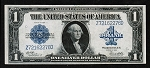 $1 Large Size Blue Seal Silver Certificate Series 1923 Fr. #238 (XF-AU)