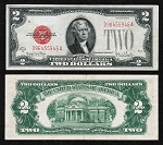 $2 Red Seal United States Notes Series 1928 Big Red Seal (Select your Condition)