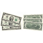 Lot of 3 Sequential 2 Two Dollar Bills Series 2003 (Crisp Uncirculated Gem)
