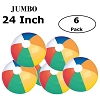 24 inch  Jumbo Colorful Beach Balls Rainbow Color Beach Balls 24
