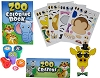 Top Race 12 Animal Coloring Books and Crayons, 12 Jungle Zoo Stampers, 12 Zoo Animal Stickers, Party Favor Set (1 Dozen of Each )