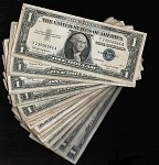 Lot of 100 Silver Certificates $1 Series 1957 (Select your Condition)