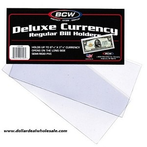 5 BCW Regular Bill Holders, Hard Clear Money Protectors