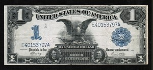 $1 Large Size Black Eagle Silver Certificate Series 1899 Fr. #235