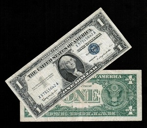 $1 Silver Certificate Blue Seal Series 1957 B (Select your Condition)