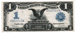 $1 Large Size Black Eagle Silver Certificate Series 1899
