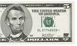 $5 Federal Reserve STAR Note, No Design, Series 2003,  (CU Gem)