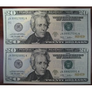 how to tell if a 20 dollar bill is real