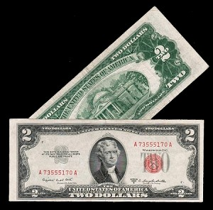 $2 Red Seal United States Notes Series 1953 (VG-F+)