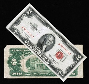 $2 Red Seal United States Notes Series 1953 (well Circulated)