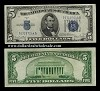 $5 Silver Certificate Big Blue Seal Series 1934 (Select your Condition)