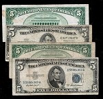 $5 Blue Seal Silver Certificate Series 1953  (Select your Condition)