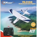 Top Race® C185 Electric 2 Ch Infrared Remote Control RC Airplane RTF (Colors Vary).