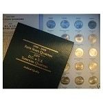"1999-2008 Complete 50-coin ""P"" Mint Statehood Quarter Set with Special Quarter Album (Uncirculated)"
