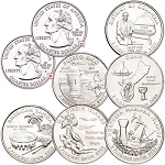 Complete P Mint D.C. & U.S. Territories Quarter Set 2009, (Uncirculated, GEM)